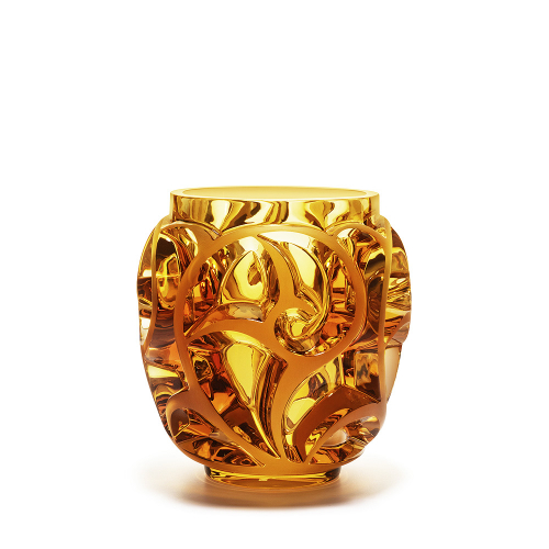 Vaso Tourbillons in Cristallo Ambra