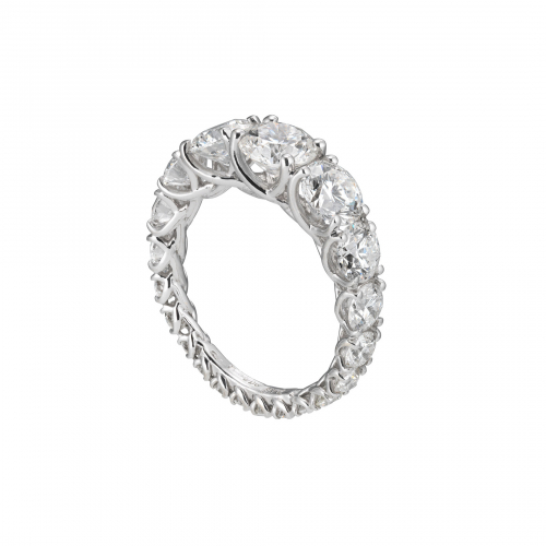 Anello Eternity Scalare Grace Diamanti