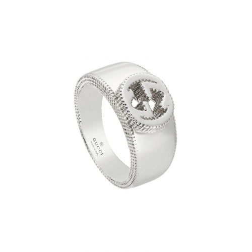 Anello Gucci interlocking in Argento -  YBC479228001